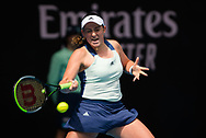 Jelena Ostapenko of Latvia in action during her second round match at the 2020 Australian Open, WTA Grand Slam tennis tournament on January 23, 2020 at Melbourne Park in Melbourne, Australia - Photo Rob Prange / Spain ProSportsImages / DPPI / ProSportsImages / DPPI