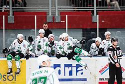 HK SZ Olimpija during Alps League Ice Hockey match between HDD SIJ Jesenice and HK SZ Olimpija on March 2, 2020 in Ice Arena Podmezakla, Jesenice, Slovenia. Photo by Peter Podobnik / Sportida