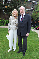 ANDREW & SONIA SINCLAIR at a reception hosted by the Friends of the Castle of Mey held at the Goring Hotel, Beeston Place, London on 22nd May 2012.