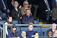 Ex-Wimbledon manager Dave Bassett (c) looks on from the stands. Skybet football league two match, Wycombe Wanderers  v AFC Wimbledon at Adams Park  in High Wycombe, Buckinghamshire on Saturday 2nd April 2016.<br /> pic by John Patrick Fletcher, Andrew Orchard sports photography.
