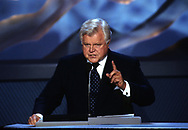 Los Agneles, CA  2000/08/16  Senator Ted Kennedy speaks at the Democratic Convention in Los Angeles in 2000. <br /><br />Photograph by Dennis Brack bb30