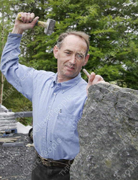 Sculptor Michael McTigue at home in Kilnamona who has been commissioned to create a piece for Charlie Haughey which will be erected in Dingle at the end of the month.<br /> <br /> Photograph by Yvonne Vaughan.