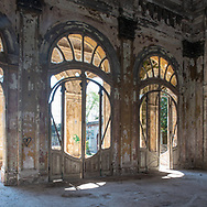 Terme del Corallo or Acque della salute.Liberty style doors of the party hall
