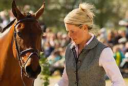 Lucy Jackson (NZL) leads Animator II  for the vet's inspection during the trot up at the 2013 Mitsubishi Motors Badminton Horse Trials. Thursday 02  May  2013.  Badminton, Gloucs, UK..Photo by: Mark Chappell / i-Images