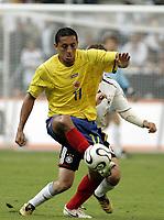 Fotball<br /> Landskamp<br /> Tyskland v Colombia<br /> 02.06.2006<br /> Foto: Imago/Digitalsport<br /> NORWAY ONLY<br /> <br /> Jairo Patino (Kolumbien) am Ball