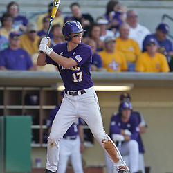 06 June 2009: D.J. LeMahieu (17) of LSU at bat during a 5-3 victory by the LSU Tigers over the Rice Owls in game two of the NCAA baseball College World Series, Super Regional played at Alex Box Stadium in Baton Rouge, Louisiana. The Tigers with the win advance to next week's College Baseball World Series in Omaha, Nebraska.