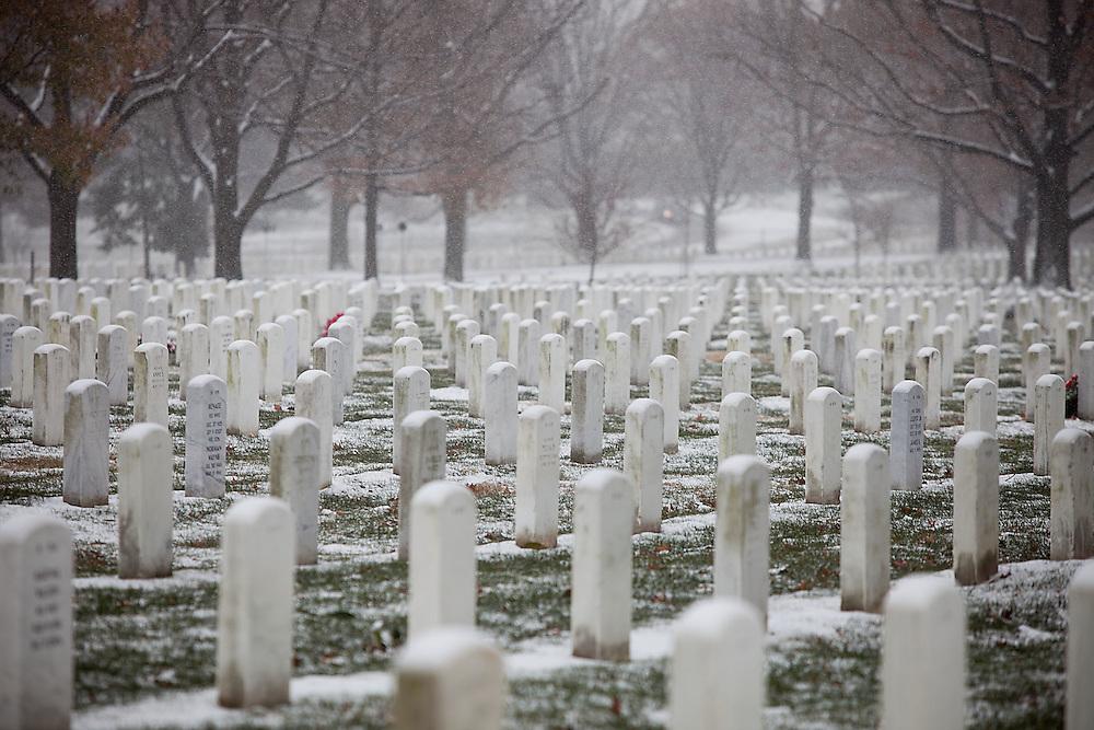 Arlington, Va., Dec. 16, 2010 - Snow descends on the Washington, DC metro area.