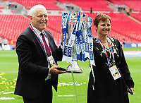 Football - 2018 / 2019 EFL Sky Bet League Two Play-Off Final - Newport County vs. Tranmere Rovers<br /> <br /> Tranmere owner, Mark Palios and his wife Nicola, at Wembley Stadium.<br /> He played for Tranmere in 1973<br /> <br /> COLORSPORT/ANDREW COWIE