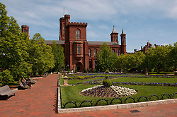 Washington DC: Smithsonian headquarters The Castle on the Mall. Photo copyright Lee Foster.  Photo # washdc102698