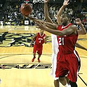 Louisiana's forward La'Ryan Gary (21) drives to the net at the UCF Arena on December 15, 2010 in Orlando, Florida. UCF won the game79-58. (AP Photo/Alex Menendez)