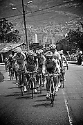 Rujano attacking during his 2009 Vuelta a Colombia win--during a beyond category, 20+% grade climb above Medellin.
