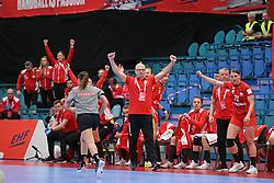 KOLDING, DENMARK - DECEMBER 5: Arne Senstad, head coach of Poland, celebrates during the EHF Euro 2020 Group D match between Poland and Romania in Sydbank Arena, Kolding, Denmark on December 5, 2020. Photo Credit: Allan Jensen/EVENTMEDIA.