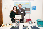 24/11/2019 repro free:  Paul Mee Galway Science and Technology Chairman  and  Special achievement award - Winner Alice Shaughnessy  Calasanctius College, Oranmore  at  the Galway Science and Technology Festival  at NUI Galway where over 20,000 people attended exhibition stands  from schools to Multinational Companies . Photo:Andrew Downes, xposure