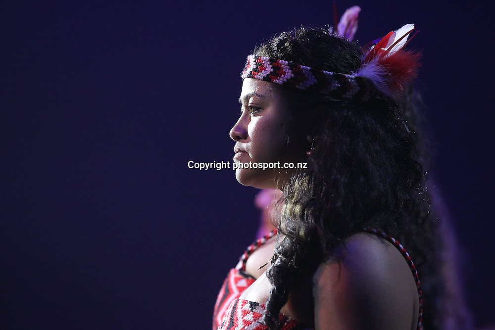 Waka Huia perform during New Zealand's major international tourism trade <br /> show. TRENZ Welcome Function. Viaduct Events Centre, Auckland, New Zealand. Sunday 21 April 2013. Photo: Fiona Goodall / Photosport.co.nz