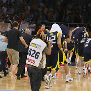 Fenerbahce Ulker's players during their Turkish Basketball league Play Off Final Sixth leg match Galatasaray between Fenerbahce Ulker at the Abdi Ipekci Arena in Istanbul Turkey on Friday 17 June 2011. Photo by TURKPIX