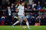 Dominic Calvert-Lewin of Everton in action. Premier League match, Crystal Palace v Everton at Selhurst Park in London on Saturday 18th November 2017.<br /> pic by Steffan Bowen, Andrew Orchard sports photography.