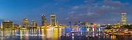 63412-01019 St. Johns River and Jacksonville Florida skyline at twilight Jacksonville, FL