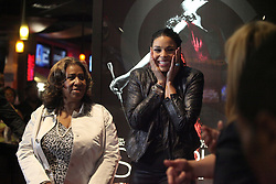 """Aretha Franklin Died at 76 on August 16, 2018 - Aretha Franklin and Jordin Sparks appear at the premiere of """"Sparkle"""" at the Emagine Royal Oak in Royal Oak, Mich., Sunday, August 5, 2012. Photo by Kathleen Galligan/Deroit Free Press/TNS/ABACAPRESS.COM"""