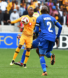 Cape Town-180915- Kaizer Chiefs Striker Khama Billiat challenged by Cape Town City defender Taariq Fielies and Thambi Mkhize in the ABSA Premiership clash at the cape Town Stadium.Chiefs won the game 4-1 as Billiat scored a brace .Photographs:Phando Jikelo/African News Agency/ANA