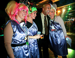 23 Feb 2006. New Orleans, Louisiana. <br /> Ray Nagin, mayor of New Orleans at the the Krewe of Muses pre float boarding party at The Venue club. Muses is the only all women's Krewe to parade in New Orleans and is known for its satire, famous shoe throws and is generally considered one of the most popular parades of the Mardi Gras.<br /> Photo © Charlie Varley/varleypix.com