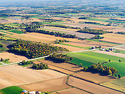Aerial view of Juneau County, Wisconsin farms. Note the moraine running through the lower third of the image.