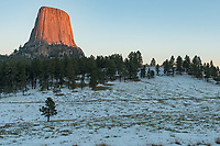 After I thought the sunlight was gone on Devil's Tower, it came out once more for just a couple minutes.