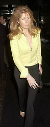 The HON.AURELIA CECIL at a party hosted by Donatella Versace to launch the new Versace Woman fragrance at Attica, 24 Kingly Street, London W1 on 19th February 2001.<br /> <br /> Photo by Dominic O'Neill/Desmond O'Neill Features Ltd.  +44(0)1306 731608  www.donfeatures.com