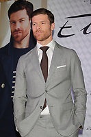 The Real Madrid player Xabi Alonso present the new collection of 'Emidio Tucci' man wear in Madrid, Spain. April 03, 2014. (ALTERPHOTOS/Caro Marin)