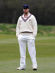 Somerset's Jack Leach - Photo mandatory by-line: Harry Trump/JMP - Mobile: 07966 386802 - 23/03/15 - SPORT - CRICKET - Pre Season Fixture - Day 1 - Somerset v Glamorgan - Taunton Vale Cricket Club, Somerset, England.
