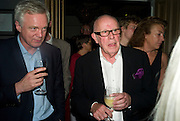 DAVID DAVIES M.P. AND RICHARD WILSON,  'Cries from the Heart' presented by Human Rights Watch at the Theatre Royal Haymarket. London. Party afterwards at the Haymarket Hotel. June 8, 2008 *** Local Caption *** -DO NOT ARCHIVE-© Copyright Photograph by Dafydd Jones. 248 Clapham Rd. London SW9 0PZ. Tel 0207 820 0771. www.dafjones.com.