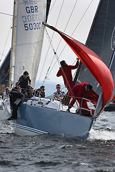 The Silvers Marine Scottish Series 2014, organised by the  Clyde Cruising Club,  celebrates it's 40th anniversary.<br /> Day 2 GBR7737R, Aurora, Rod Stuart / A Ram, CCC, Corby 37<br /> Racing on Loch Fyne from 23rd-26th May 2014<br /> <br /> Credit : Marc Turner / PFM