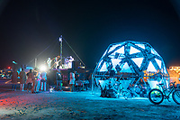 Live Music! - The lights on this amazing dome were controllable with a touchscreen. - https://Duncan.co/Burning-Man-2021