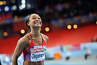 Friidrett<br /> Innendørs-EM 2011<br /> Paris Frankrike<br /> 06.03.2011<br /> Foto: Deca/Digitalsport<br /> NORWAY ONLY<br /> <br /> Ezinne Okparaebo tok bronse på 60 meter