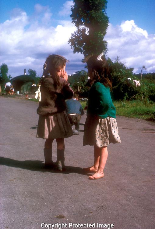 Tinker children near Galway, Ireland.