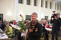 DEU, Deutschland, Germany, Berlin, 10.12.2016: Die neue Linken-Landesvorsitzende Katina Schubert beim Landesparteitag von Die Linke im WISTA-Veranstaltungszentrum Adlershof.