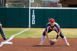 NORMAL, IL - April 06: Andrea Coursey during a college women's softball game between the ISU Redbirds and the University of Northern Iowa Panthers on April 06 2019 at Marian Kneer Field in Normal, IL. (Photo by Alan Look)