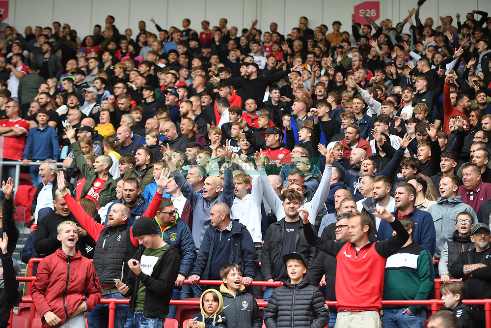 File photo dated 07-08-2021 of Bristol City fans in the new safe standing zone at Ashton Gate. Issue date: Thursday October 7, 2021.