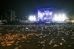 May 2, 2019 - NO DAILY * Rome, The garbage invade San Giovanni after the May Day concert (Credit Image: © Roma/IPA via ZUMA Press)