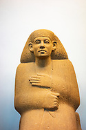 Quartzite statue of Ankhrekhu. 1850 BC. 12th Dynasty. Middle Kingdom. From Egypt. British Museum. London.