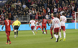 October 30, 2017 - Harrison, New Jersey, United States - Jozy Aktidore (17) of Toronto FC controls ball during MLS Cup first leg game against Red Bulls at Red Bull Arena Toronto won 2 - 1  (Credit Image: © Lev Radin/Pacific Press via ZUMA Wire)