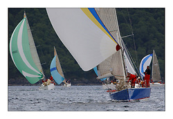 Yachting- The first days inshore racing  of the Bell Lawrie Scottish series 2003 at Tarbert.  Light shifty winds dominated the racing...GBR9369R Bateleur 97 winner of Class 2..Pics Marc Turner / PFM