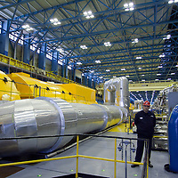A general view of the turbine hall of the building in Paks, 120 km (75 miles) east of Budapest, Hungary on March 23, 2011. ATTILA VOLGYI