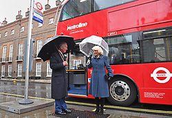File photo dated 04/03/20 of the Prince of Wales and Duchess of Cornwall, before boarding a new electric double decker bus to leave Clarence House in London. Charles and Camilla are celebrating their 15th wedding anniversary on Friday, after they were reunited on Monday when the 72-year-old duchess came out of a 14-day self-isolation on the Balmoral estate in Aberdeenshire.