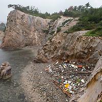 Coastline near Tsudo on Dogo, the main island of the Oki Islands in Shimane Prefecture, Japan.