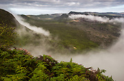 Rim of Sierra Negrá Volcano (second largest volcanic crater in the world)<br /> Isabela Island<br /> Galapagos Islands<br /> ECUADOR.  South America