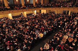It's a packed house at Woolsey Hall, on a cold winters night, for Century on a Spree: The Whiffenpoof Centennial (1909-2009)