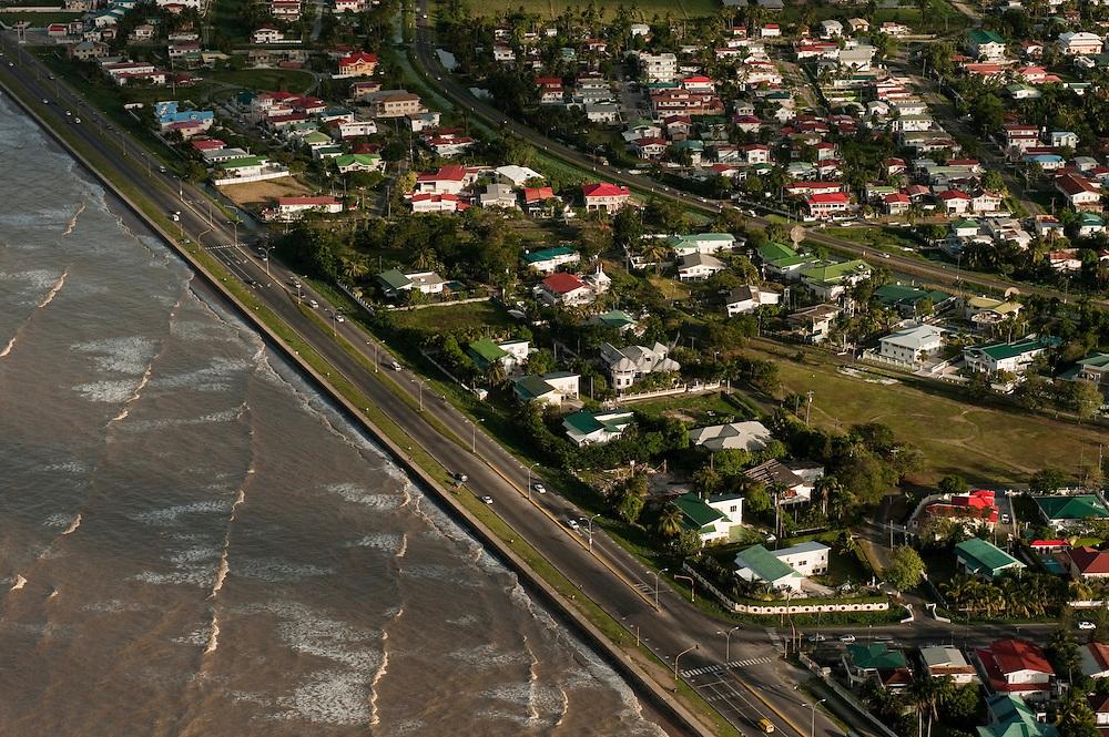 Georgetown & Sea Wall<br /> Georgetown built below sea level<br /> GUYANA<br /> South America