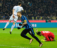 Esultanza gol di Mauro Icardi Inter 1-1. Celebration goal<br /> Milano 20-12-2015 Stadio Giuseppe Meazza - Football Calcio Serie A Inter - Lazio. Foto Giuseppe Celeste / Insidefoto