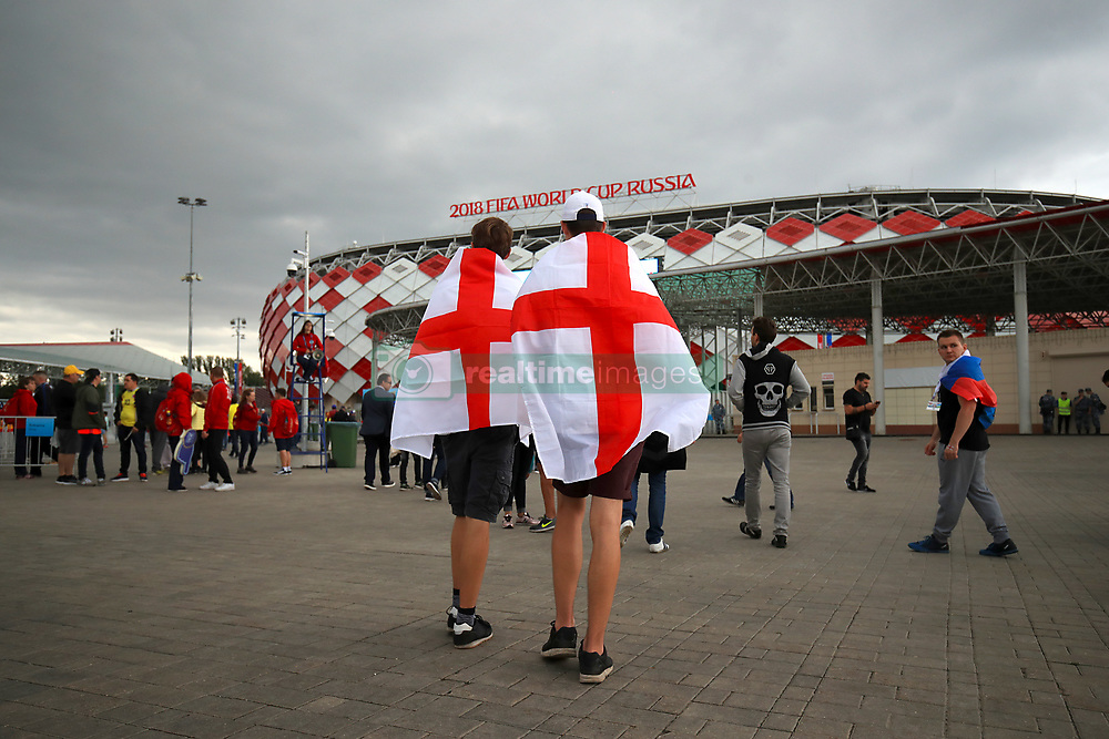 England fans ahead of the FIFA World Cup 2018, round of 16 match at the Spartak Stadium, Moscow.