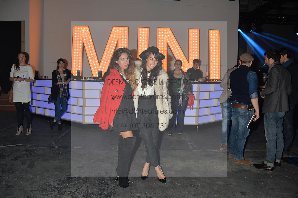 Monday 18th November 2013 saw a host of London hipsters, social faces and celebrities, gather together for the much-anticipated World Premiere of the brand new MINI.<br /> Attendees were among the very first in the world to see and experience the new MINI, exclusively revealed to guests during the party. Taking place in the iconic London venue of the Old Sorting Office, 21-31 New Oxford Street, London guests enjoyed a DJ set from Little Dragon, before enjoying an exciting live performance from British band Fenech-Soler.<br /> Picture Shows:-JADE EWEN, PREEYA KALIDAS